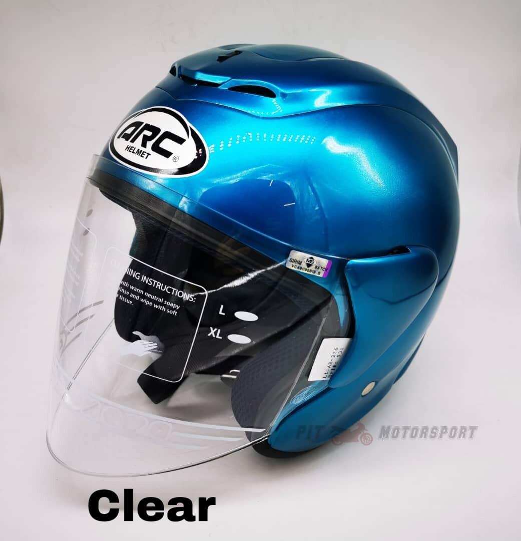 Metalic Green Helmet ARC RITZ Open Face Size L / XXL + Visor Clear / Smoke / Gold / Red / Blue / Rainbow Y15 Ysuku Y15ZR Visor & Helmet ARC