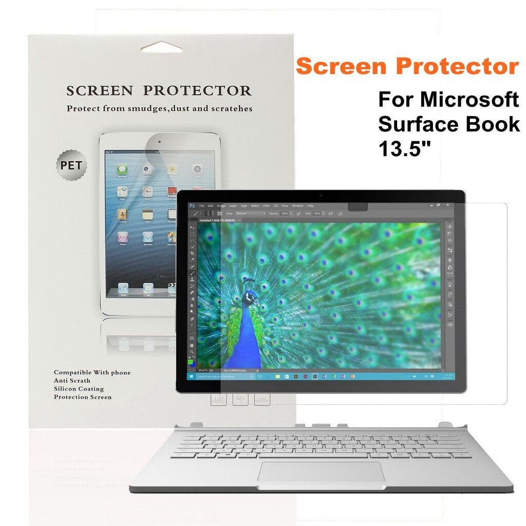 iPh Tempered Glass - Premium Anti-Scratch Screen Protector For Microsoft Surface Book 13.5\'\' Inc - Screen Protectors