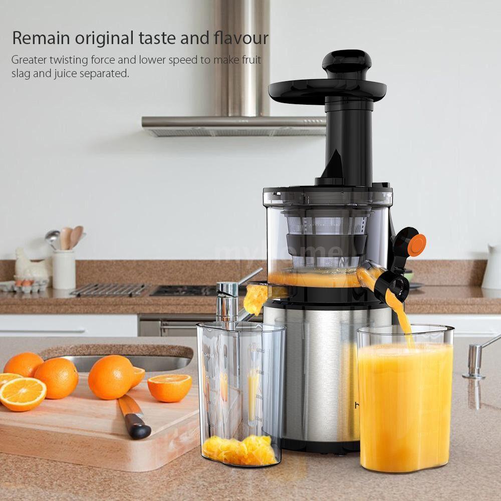 Small Kitchen Appliances - Homgeek Household Stainless Steel Slow Juicer Slag Juice Separation Stirrer Low Speed Squeezer 200W - #