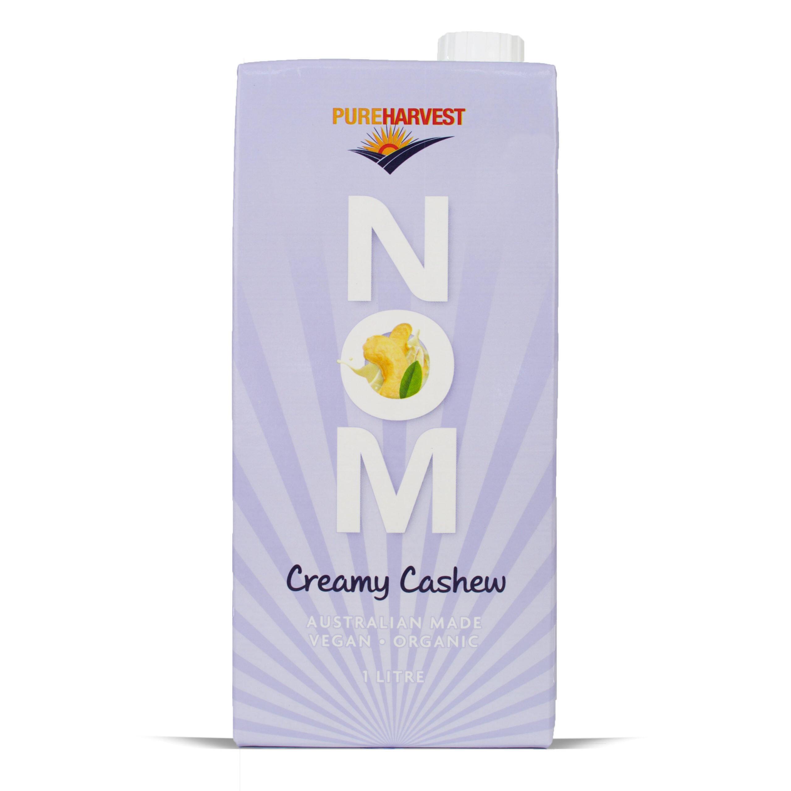 MILK PUREHARVEST NOM Creamy Cashew Australian Made Vegan Organic (1L) EURO SNACKS