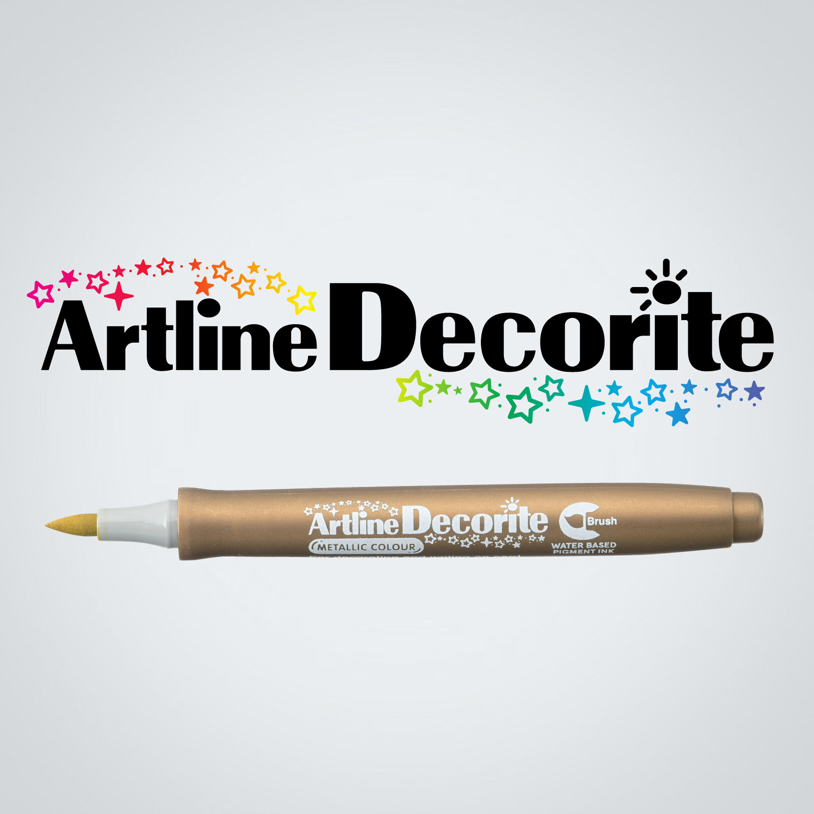 Artline Decorite Brush (EDF-F)  (EDFM-F) Gold