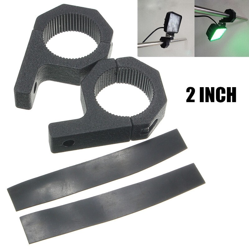 Car Lights - 2x 2Inch LED Work Light Bar Mount Bracket Tube Clamp Bumper Bull Bar/Roll Cage - Replacement Parts