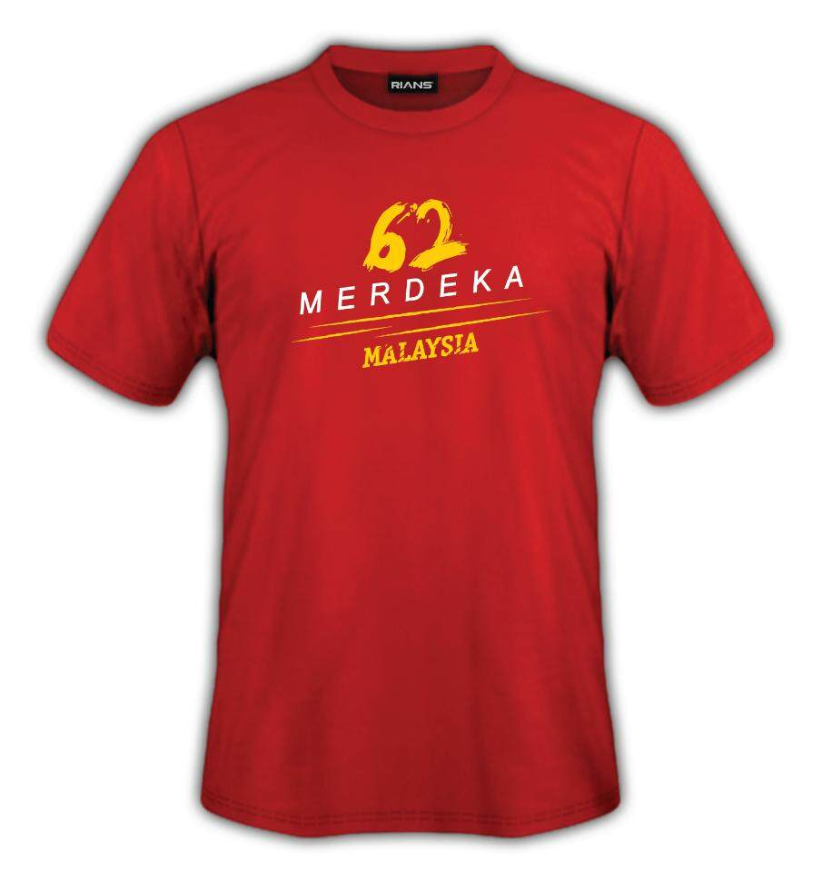 T-Shirt MERDEKA 62 MALAYSIA MERDEKA V1 100% Cotton Baju Tshirt Black White Hitam Putih Bossku