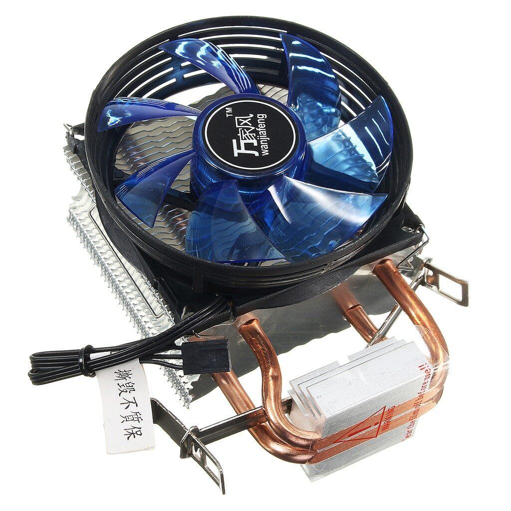Fans & Heatsinks - LED CPU Cooler Fan Heatsink for Intel Socket LGA1156/LGA1155/LGA775 AMD AM3 - Components