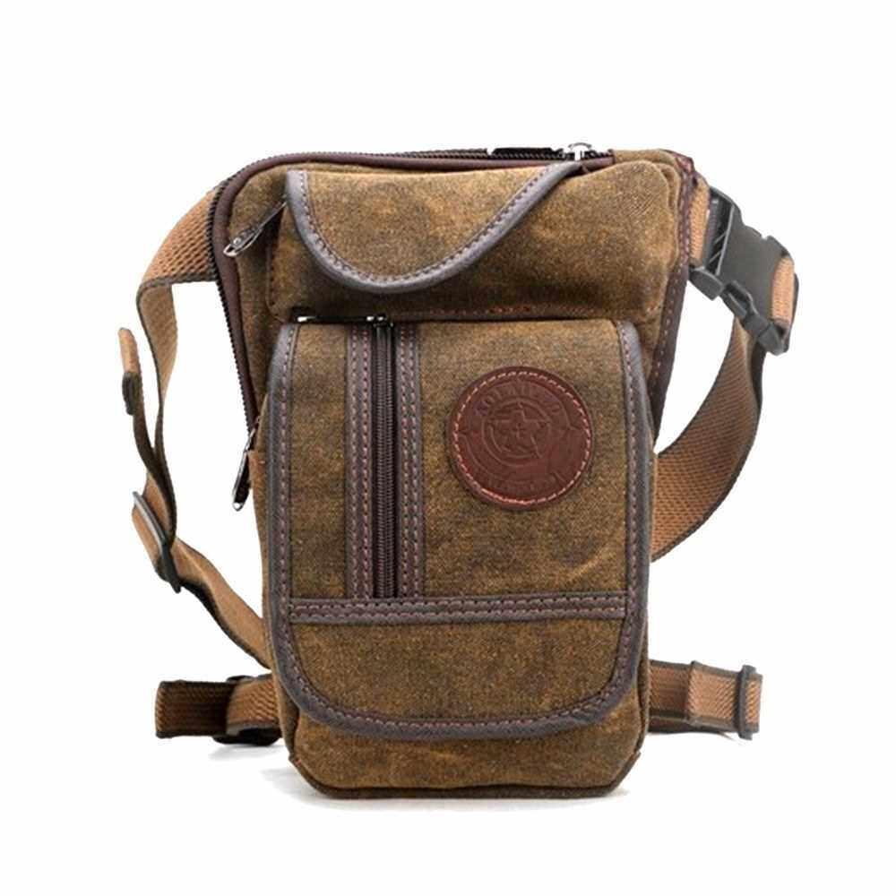Multi-functional Canvas Waist Bag (Brown)