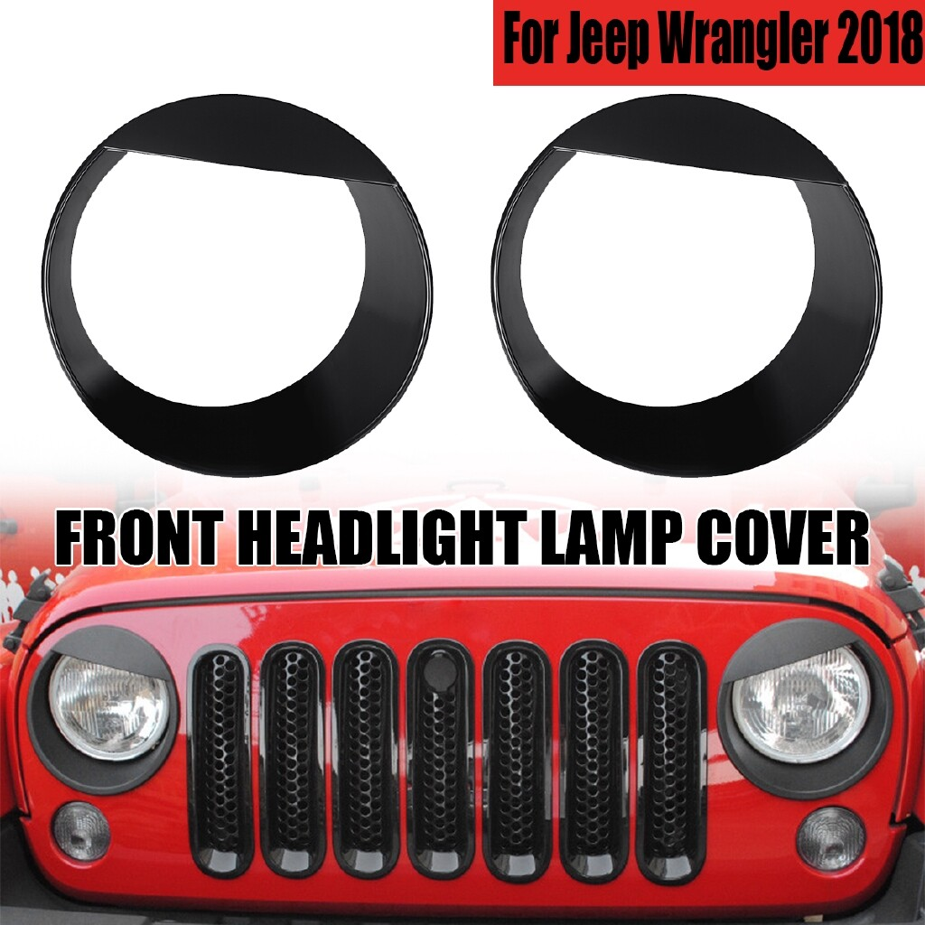 Car Stickers - 2 PIECE(s) Angry Bird Eyes Front Headlight Lamp Cover Decor for Jeep Wrangler AU - BLACK