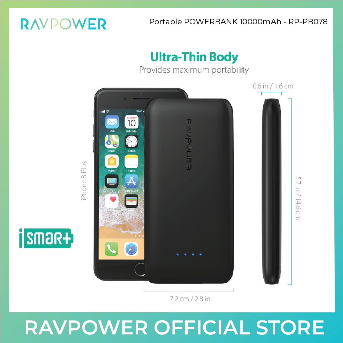 RAVPower USB-C Power Bank - 10000mAh