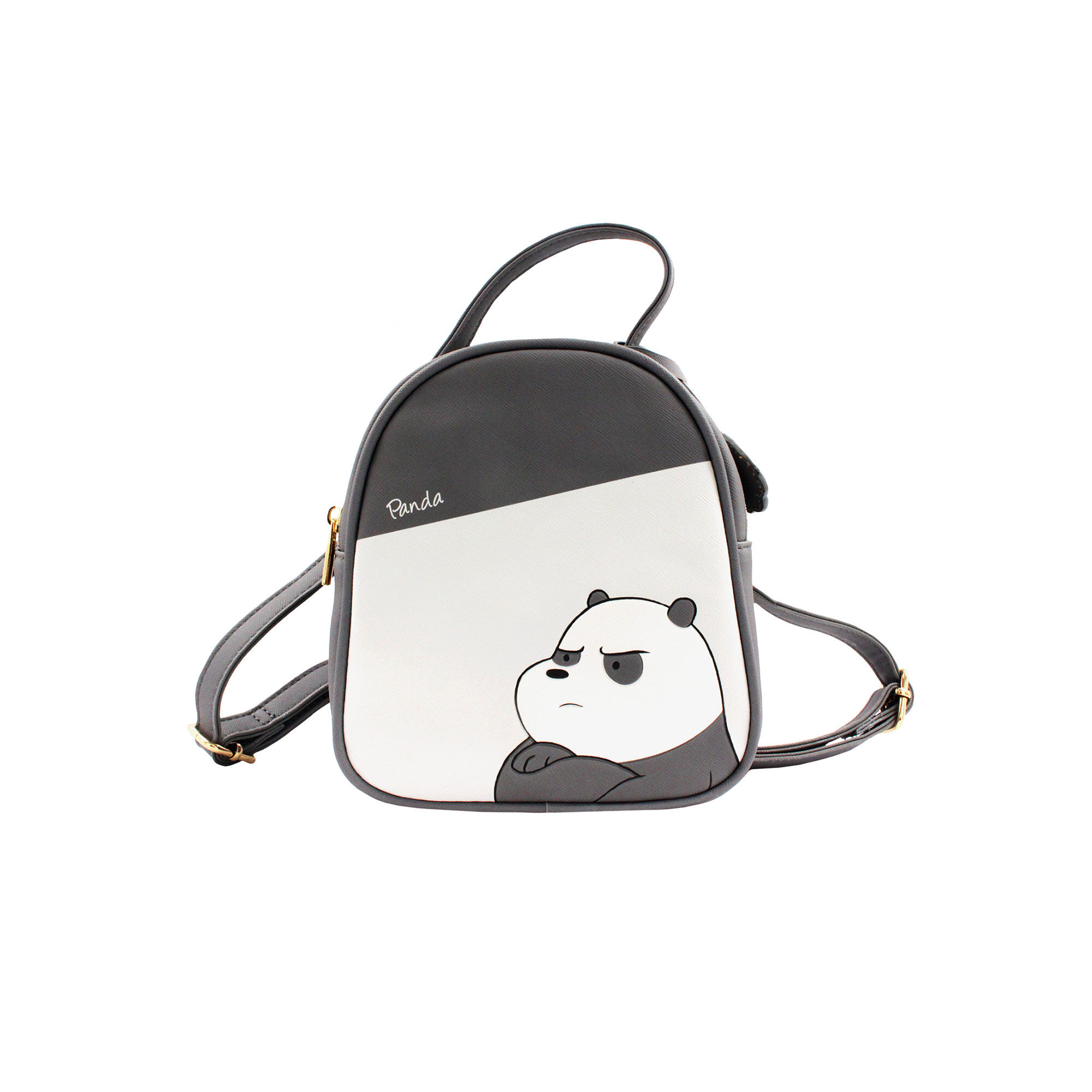 We Bare Bears Panda Crossed-Body Bag - Grey Colour