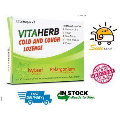 VITAHERB Cold and Cough Lozenge - 12's x 2
