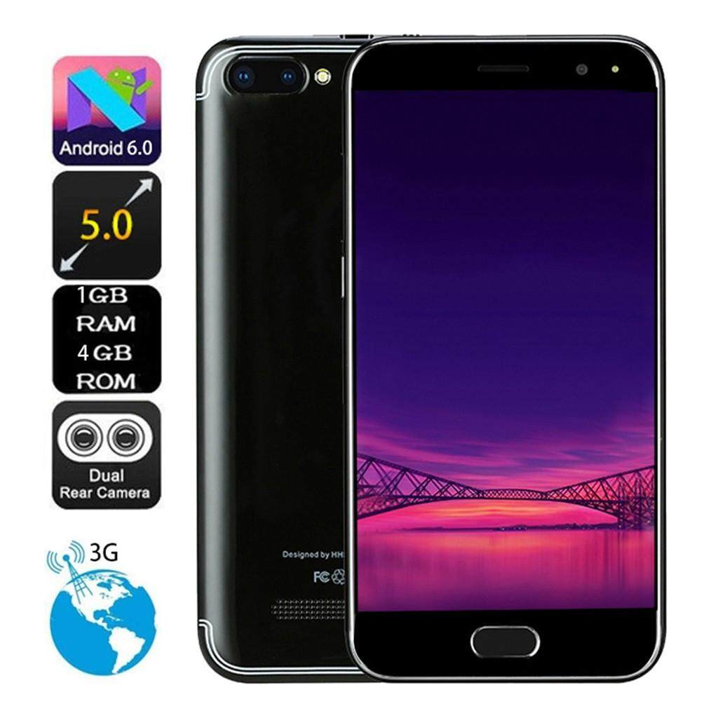 NEW 5.0 inch Dual HD Camera  Android 6.0  1G+4G  GPS 3G Call Mobile Phone