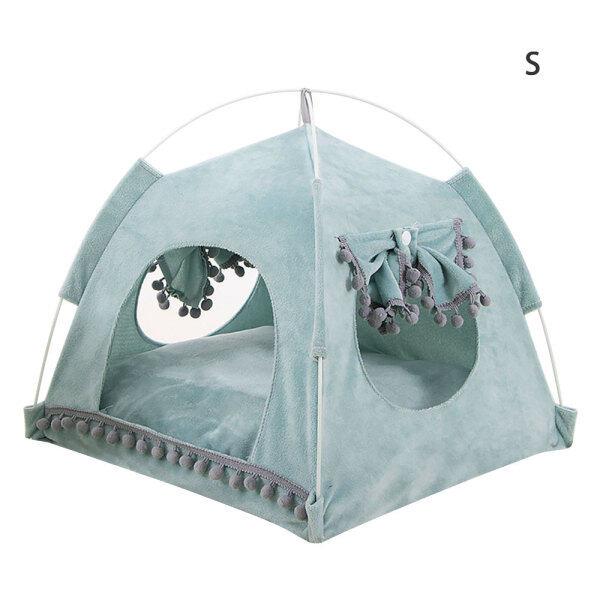 [Easybuy88] Nhà Cho Chó Cưng Mùa Xuân Mùa Hè Lều Mèo Bốn Mùa Cũi Phổ Thông Có Thể Tháo Rời Tổ Thú Cưng Có Thể Giặt Được Với Đệm Màu Xanh Lá Cây