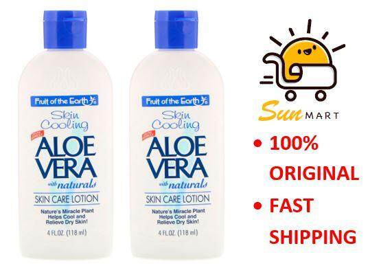 Fruit of the Earth Skin Cooling Aloe Vera with Naturals Skin Care Lotion 2 x 118ml