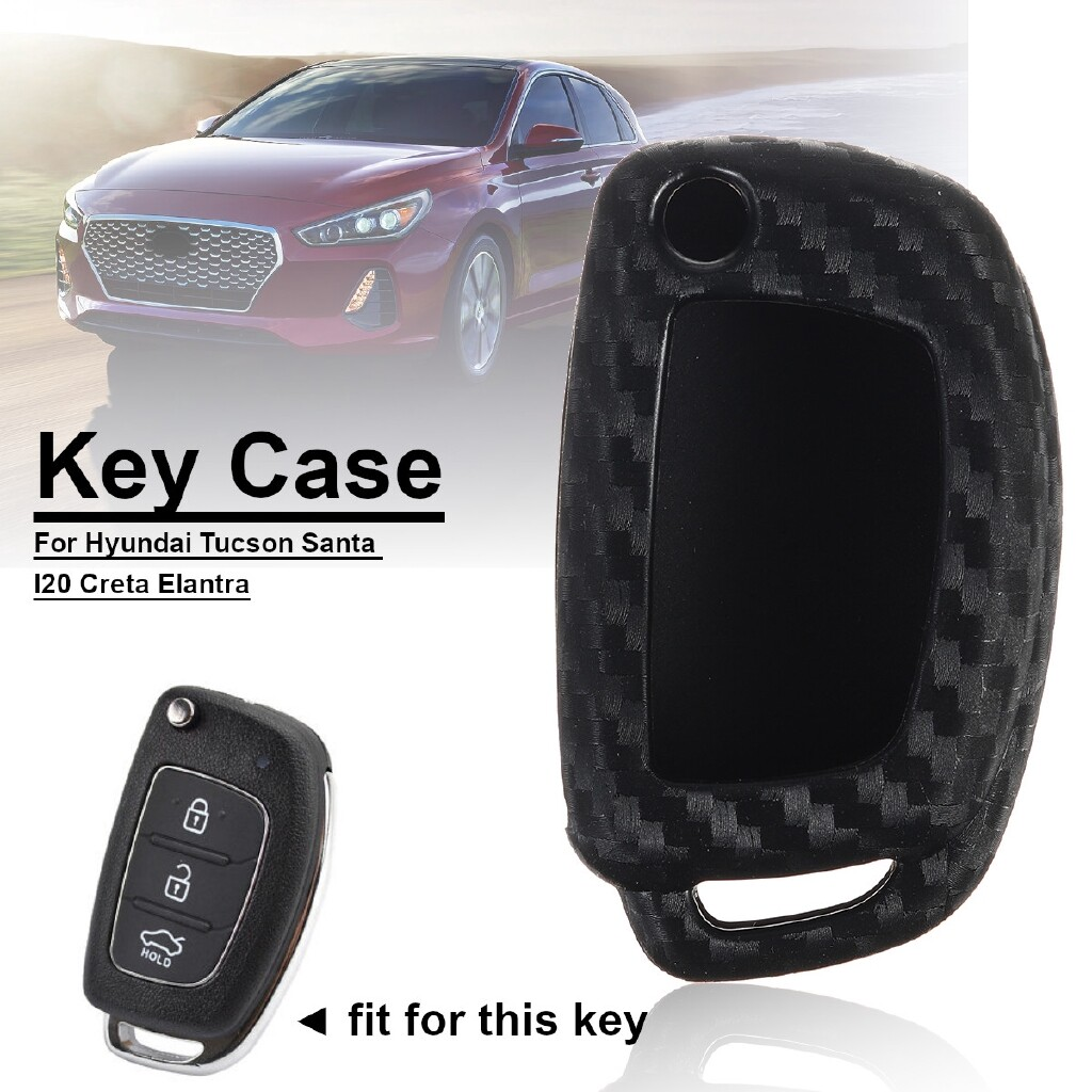 Car Accessories - Car Key Case Cover Holder Bag Protection For Hyundai I20 Ix35 Solaris Tucson - Automotive