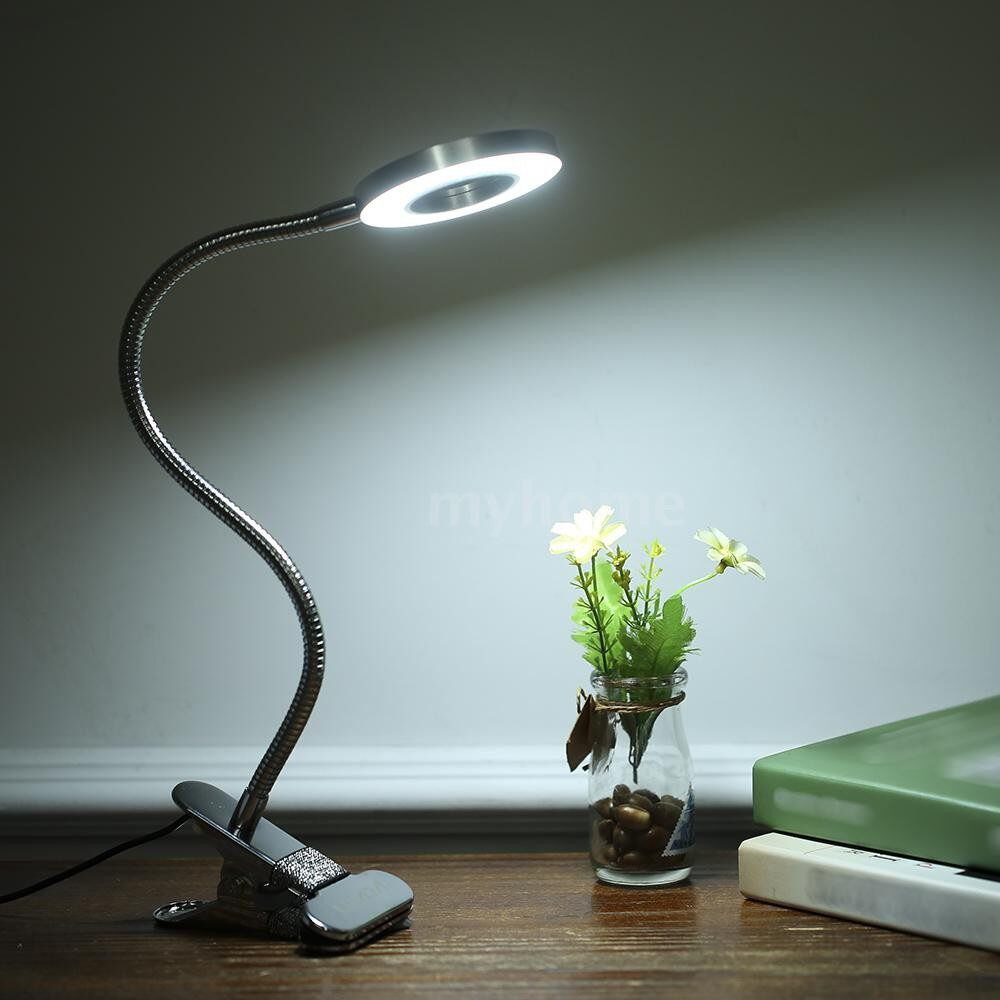Table Lamps - DC5V 5W 36 LED Clamp Clip Desk Lamp USB Powered Operated 3 Light Colors(White/Warm white/warm white - SILVER