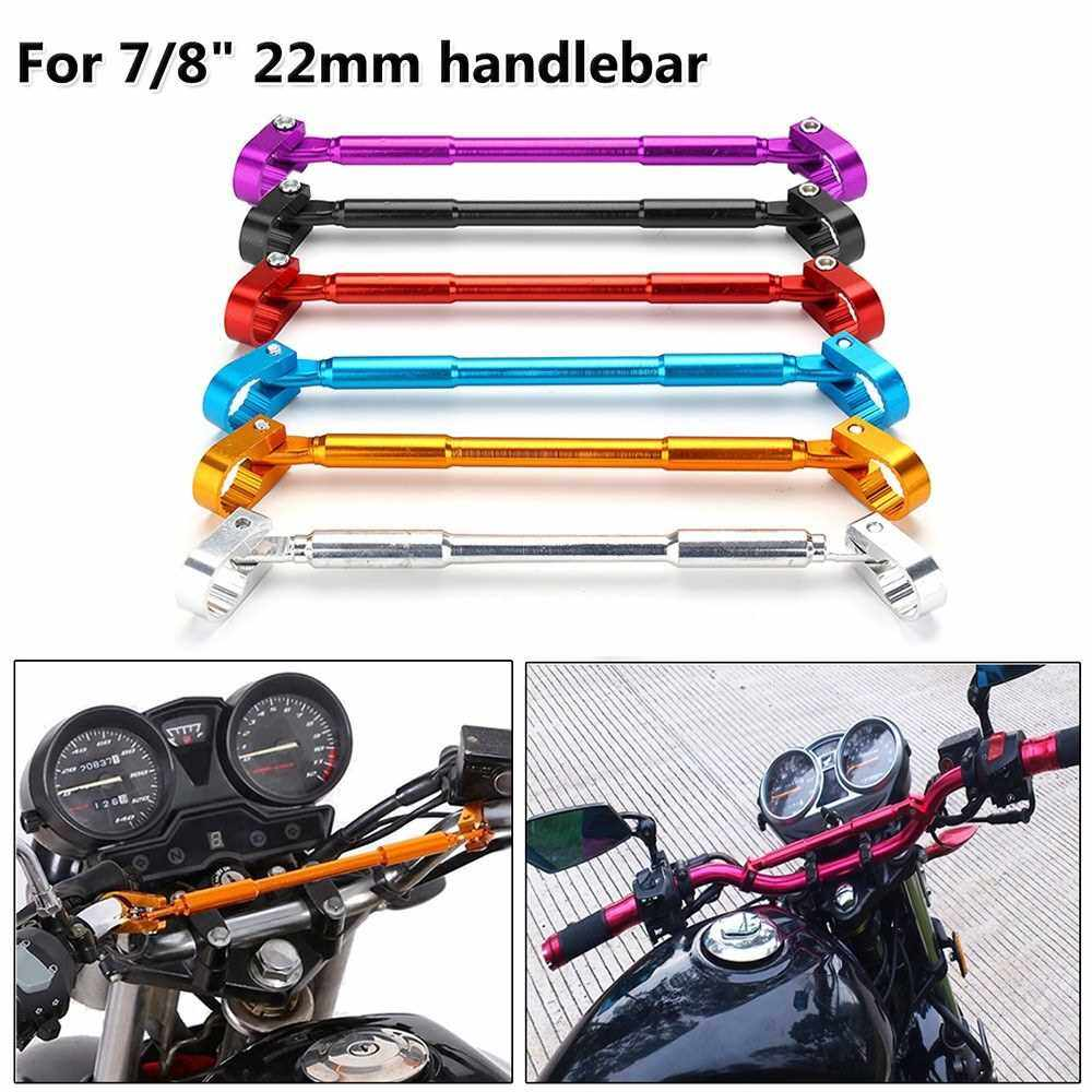 Best Selling Universal 7/8? 22mm Motorcycle Handlebar Motorbike Grips Handle Bar Aluminum Alloy Brace & Clamp Adjustable Cross Bar (Silver)