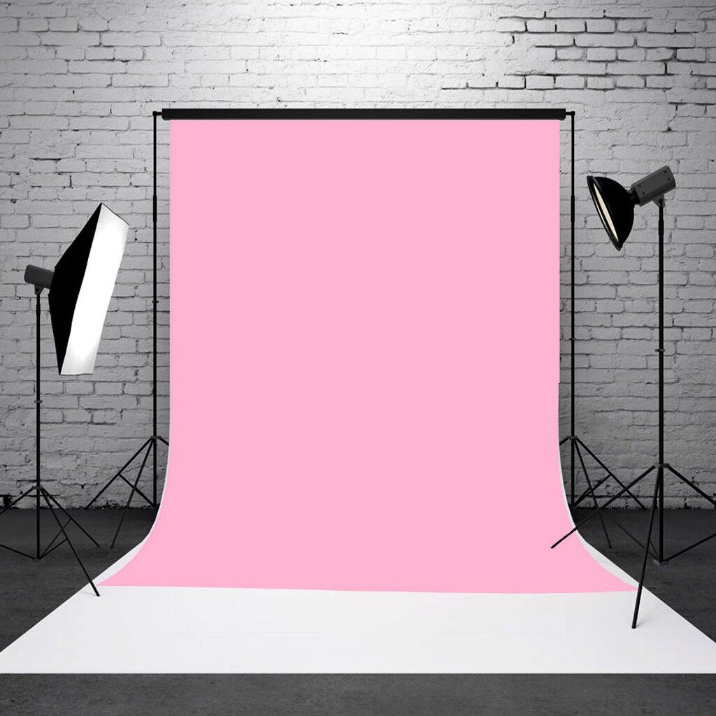 Lighting and Studio Equipment - 3x5ft Baby Pink Thin Vinyl Photography Backdrop Background Studio Photo Props - Camera Accessories