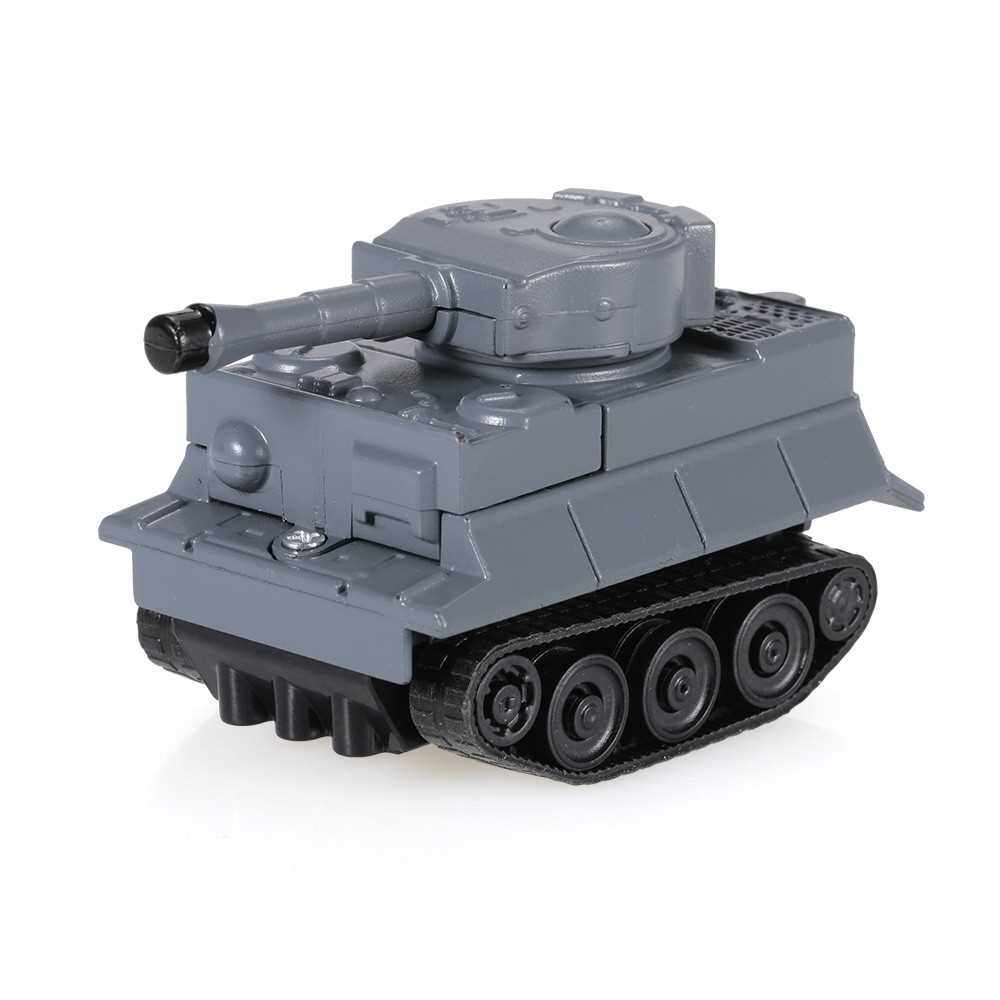 People's Choice GOLD LIGHT Magic Mini Tank Follow Black Drawn Line Toy Car (Gray)