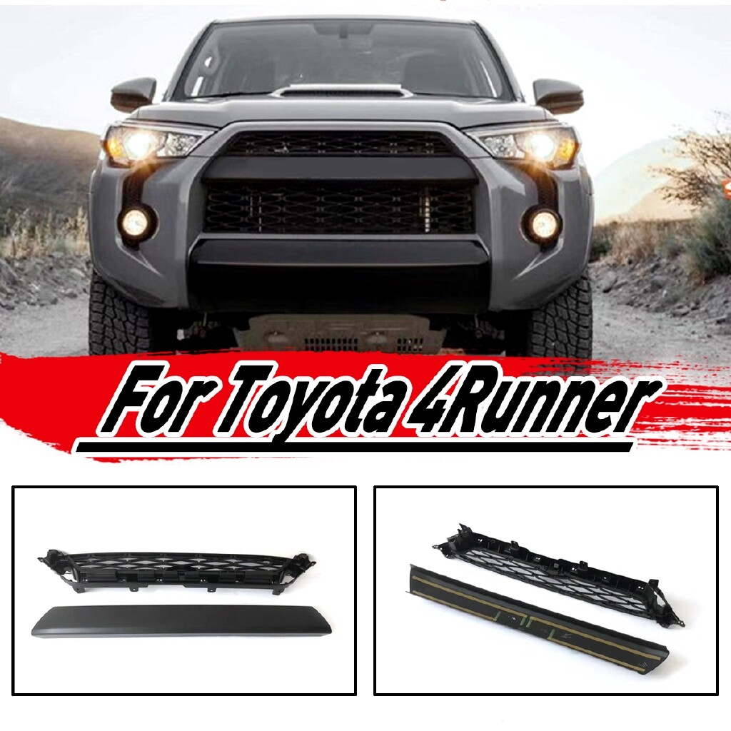 Car Replacement Parts - 2 PIECE(s) Front Bumper Grill Grille REPLACEMENT Trim FOR TOYOTA 4 RUNNER Trd Pro 2 - Automotive