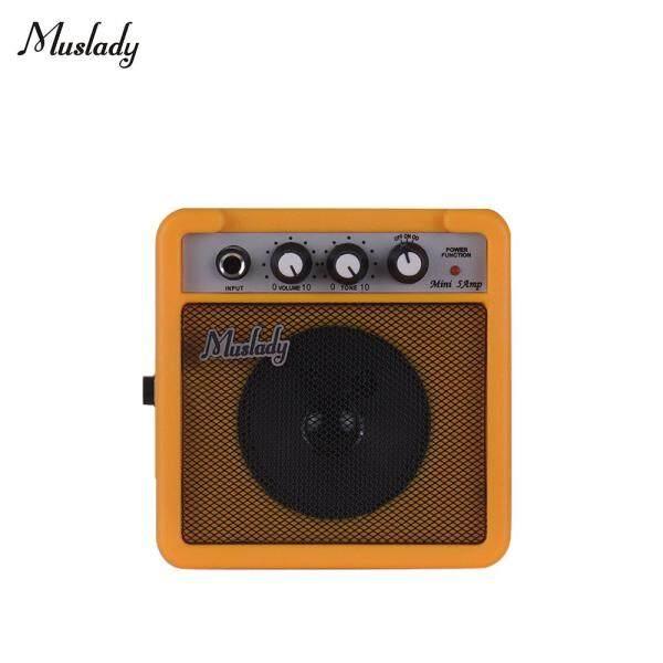 Muslady Loa Khuếch Đại Âm Thanh Guitar Mini 5W, Hỗ Trợ Tăng Tốc Điều Chỉnh Âm Lượng Màu Vàng