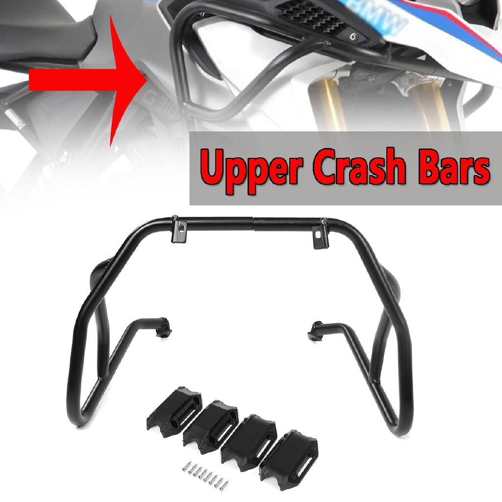 Engine Parts - Black Front Upper Engine Guard Crash Bar Tank Guard Protector Fit For BMW G310GS - Car Replacement