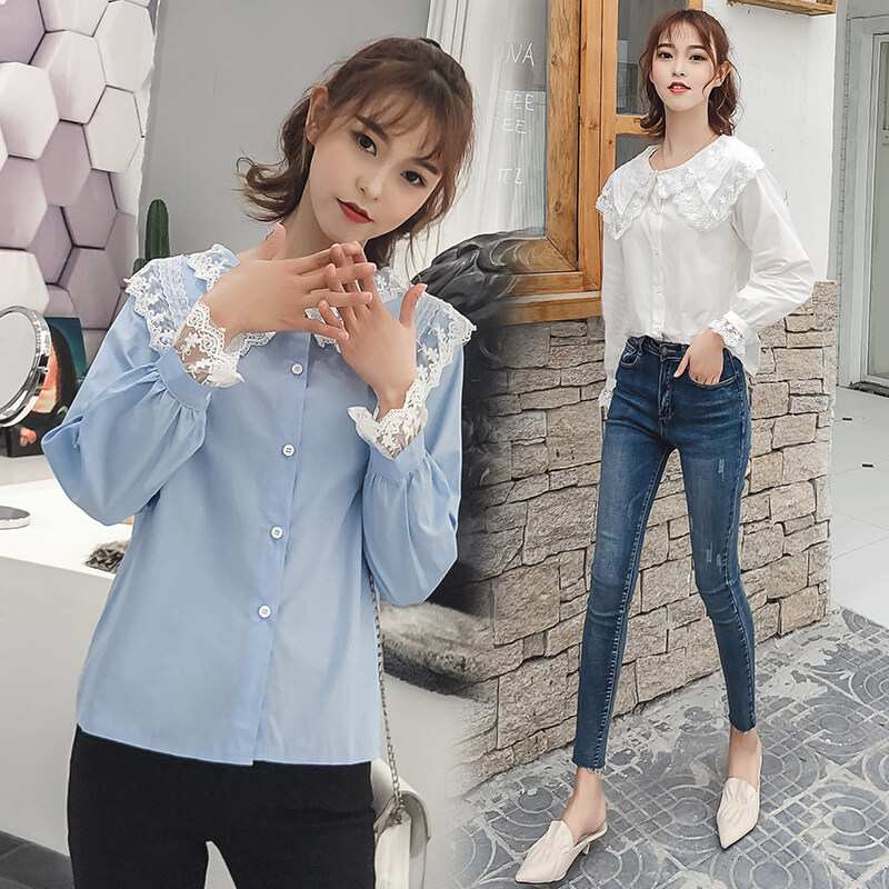JYS Fashion Korean Style Women Long Sleeve Blouse or Top Collection 535- 7135