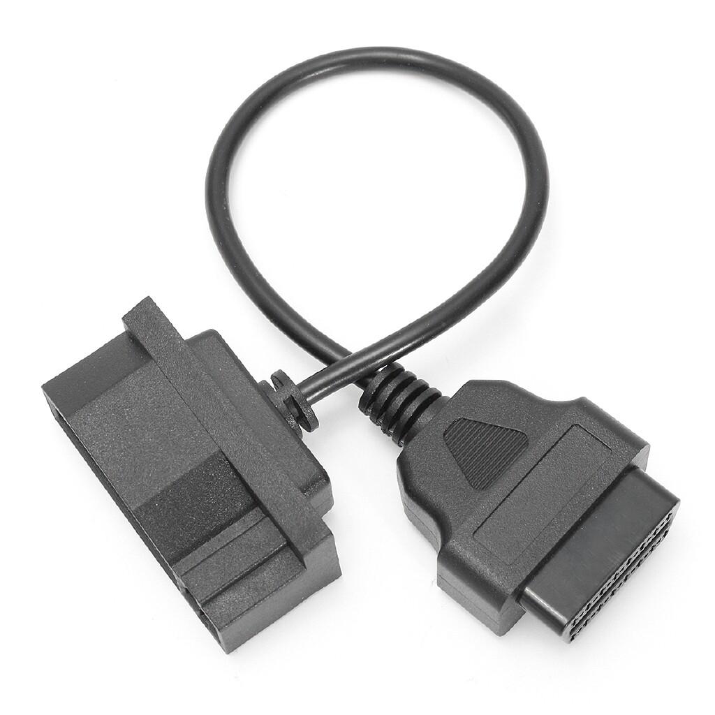 Car Accessories - Diagnostic Adapter Cable 7 Pin Male OBD1 to OBD2 OBDII 16 Pin For Ford EFI - Automotive