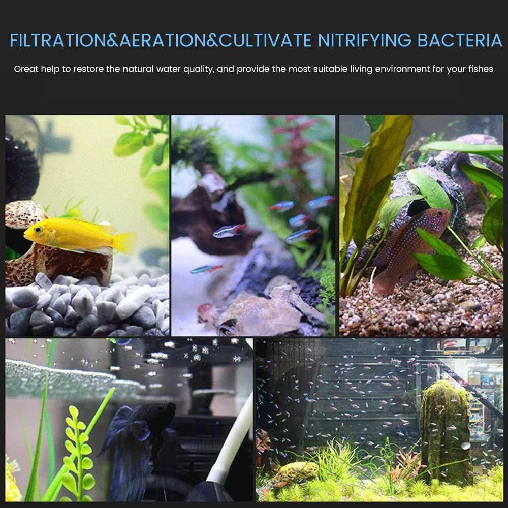 Air Driven Sponge Aquarium Filter Biochemical Sponge Ultra Quiet Filtration Aeration Cultivate Nitrobacteria (6)
