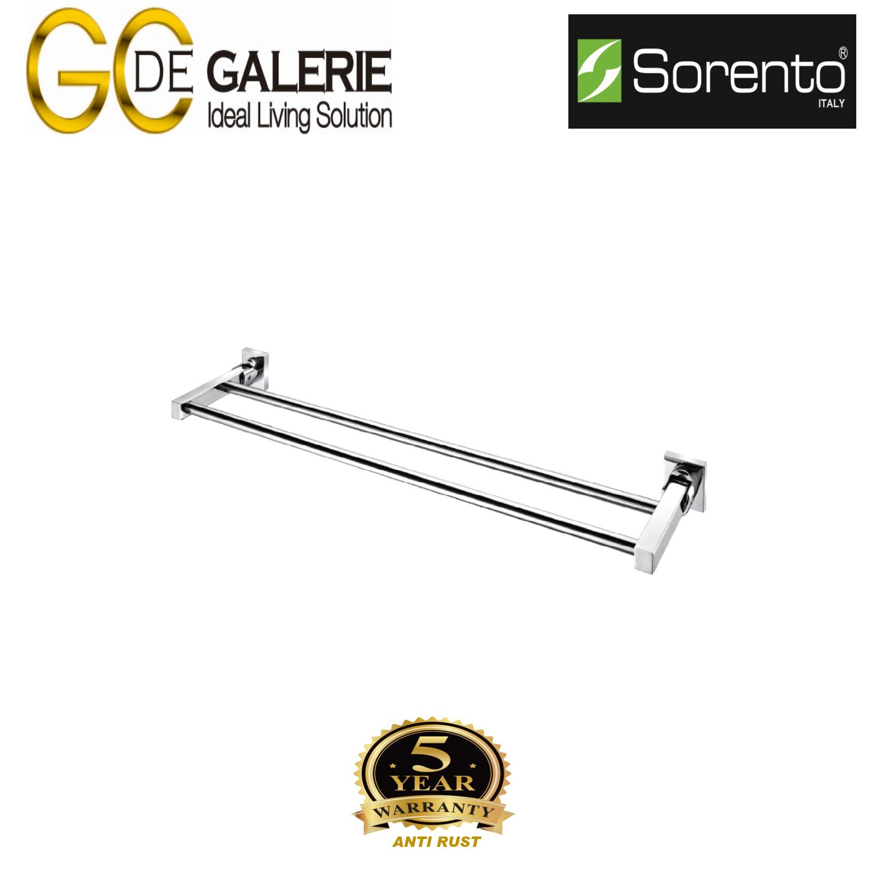 Sorento SRT681-32ST Bathroom/ Toilet Stainless Steel 304 Towel Bar- Double (Satin Finish)