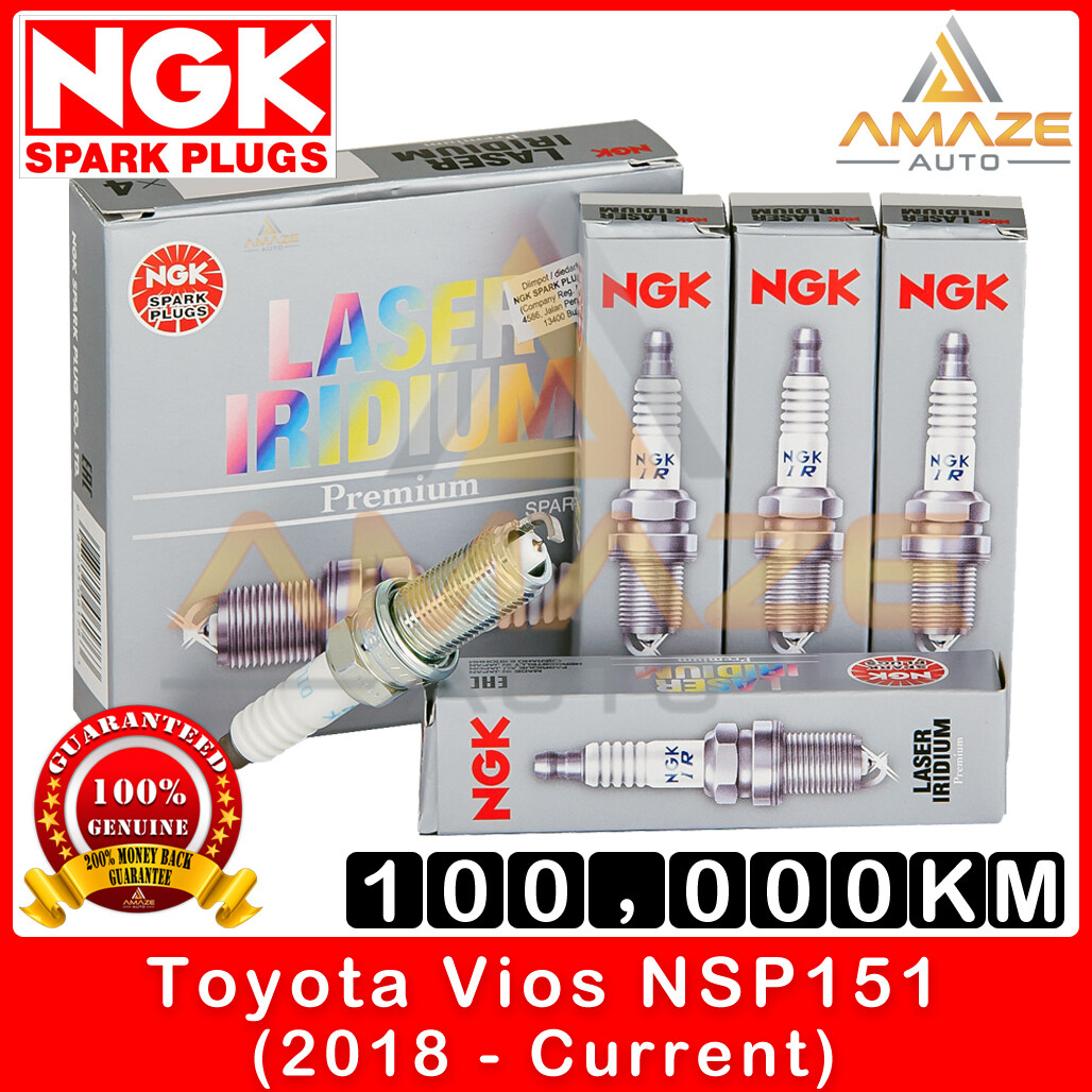 NGK Laser Iridium Spark Plug for Toyota Vios NSP151 (2019 - Current) - Long Life Spark Plug 100,000KM [Amaze Autoparts]