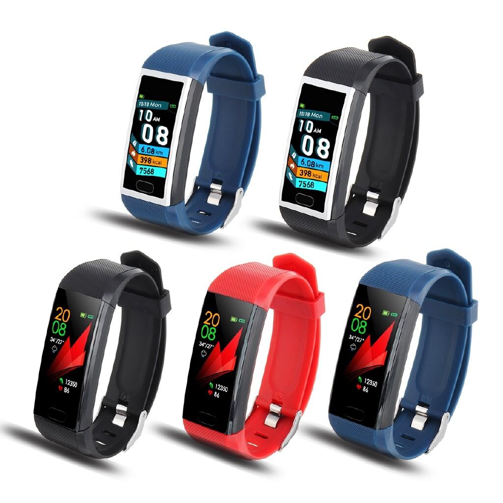 Smart Watch - 1.14'' Smart Wristband Fitness Bracelet Watch BLUETOOTH Heart Rate Waterproof - RED / BLUE GREY / BLUE / BLACK / BLACK GREY