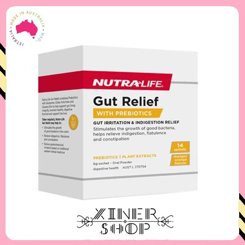 [Pre Order] Nutra-Life Gut Relief with Prebiotic ( 14 Sachets x 6g )(Made in Australia)