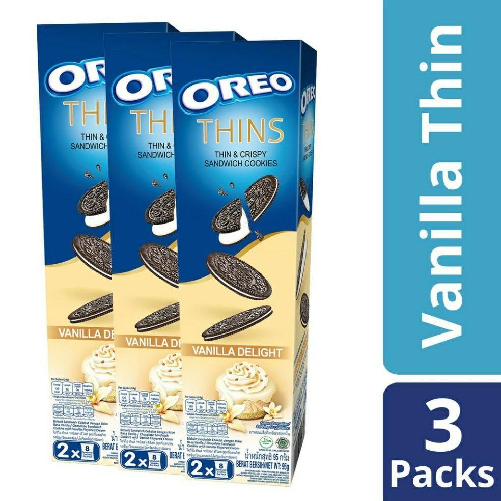 Oreo Thins & Crispy Cookies Vanilla Delight (95g x 3)