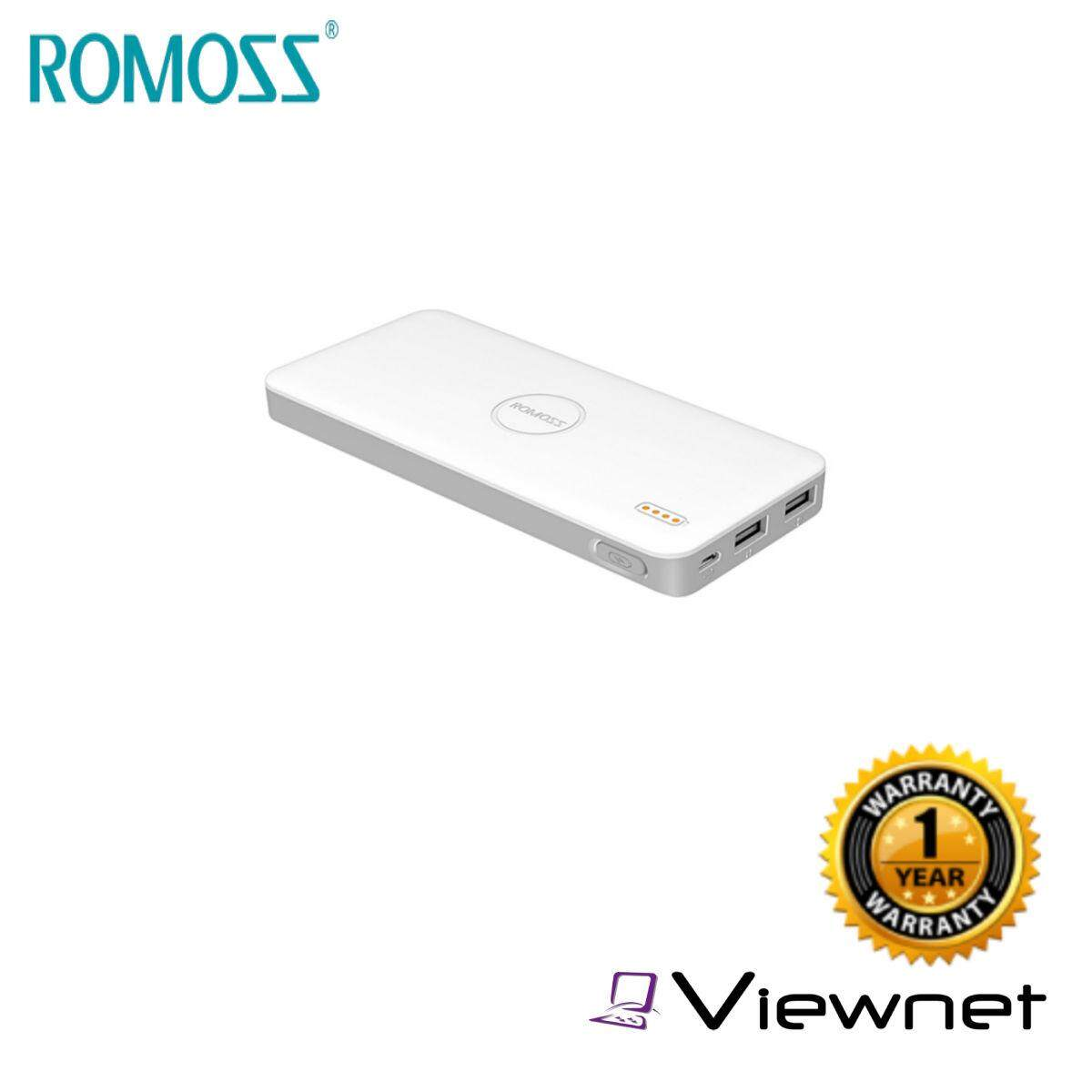 Romoss Power Bank Polymos 10 Air 10000MAH 2.1A (PB10-403-01) With USB Cable