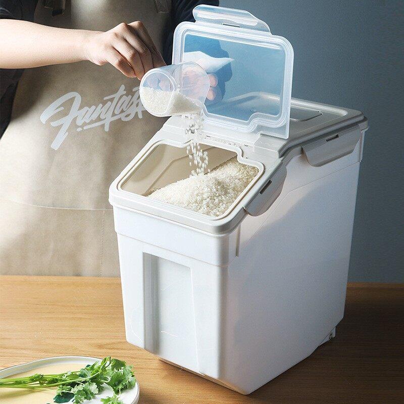 Rice Storage Container With Wheels Seal Locking Rice Storage Box  BEST SELLER