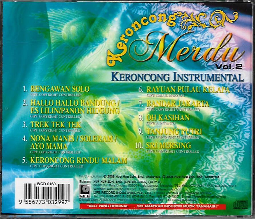 Keroncong Merdu Keroncong Instrumental Vol.2 CD