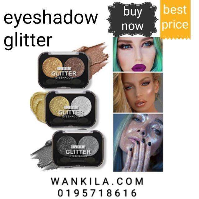 Eyeshadow Glitter 2 Warna Ushas