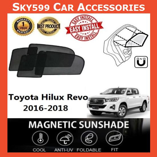 Toyota Hilux Revo 2016-2020 Magnetic Sunshade 【6pcs】