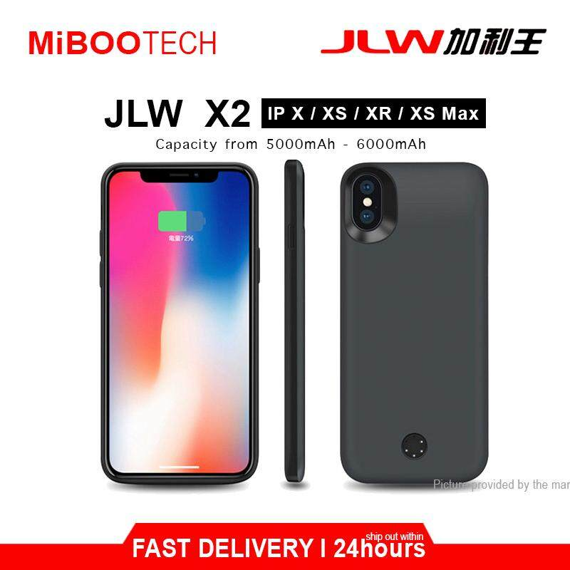 [Miboo] JLW Smart Charging Protective Battery Case 5000mAh - 6000mAh Powercase Born For iPhone X / XS (Local Warranty) - IP X IP XS - 5000mAh