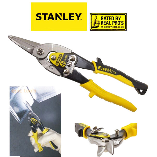Stanley Aviation Snips - Straight Cut (Yellow)