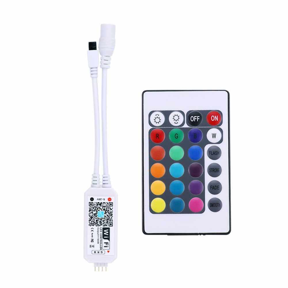 DC5-28V 192W(Max.) Mini RGBW WIFI Intelligent Controller with Remote Control (White)