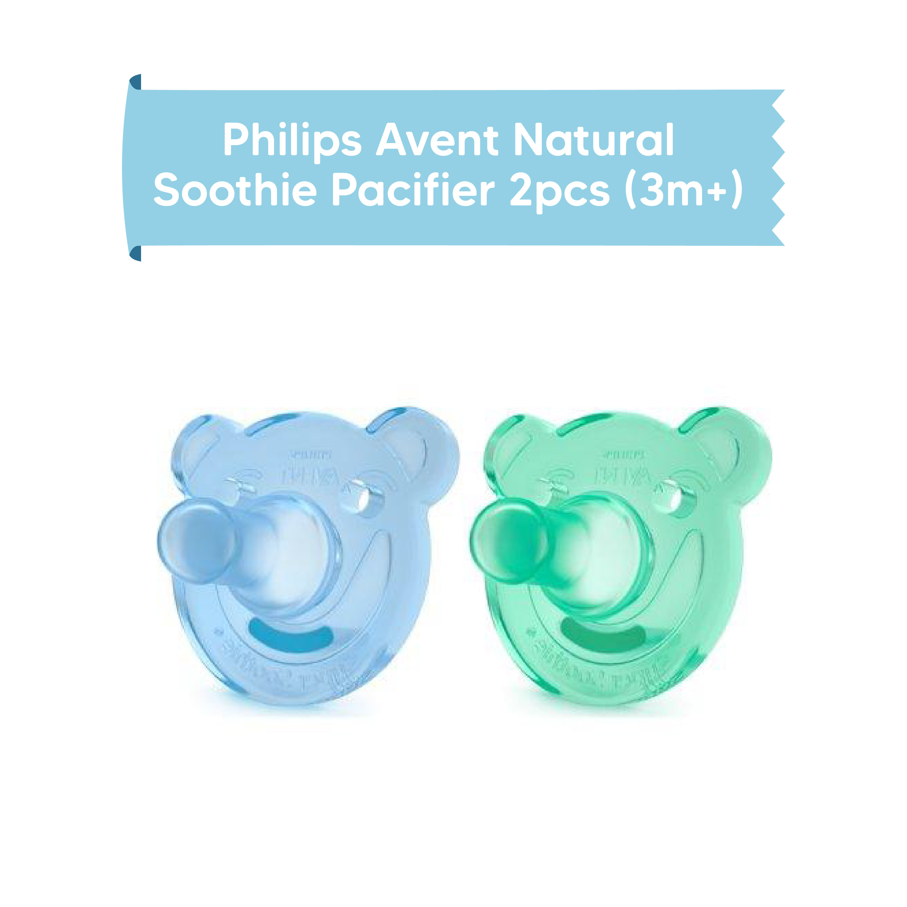 Philips Avent Natural Soothie Pacifier 2pcs (3m+)