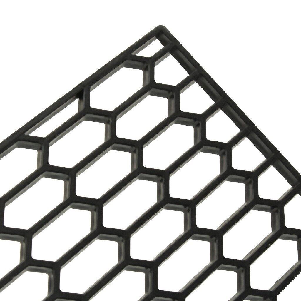 Engine Parts - Car Honeycomb Mesh Central Grill ABS Plastic Spoiler - Car Replacement