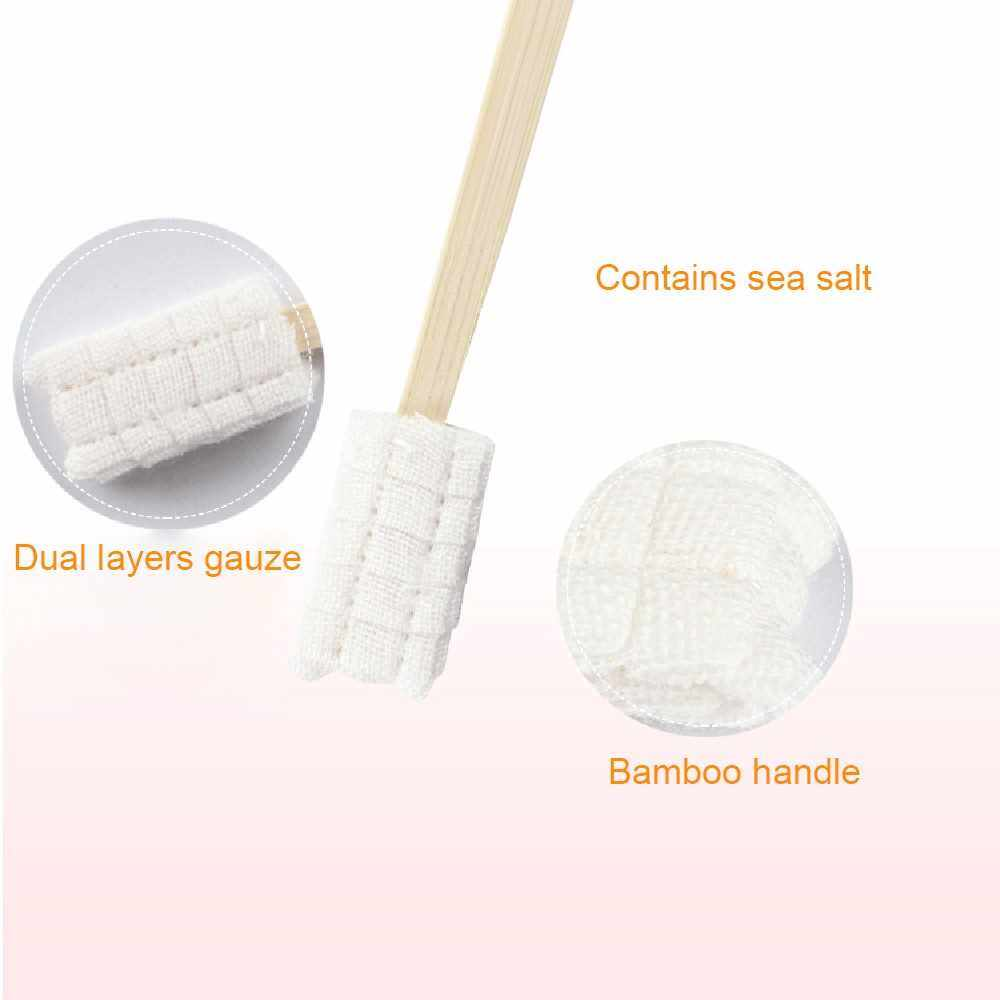 People's Choice 30 Pcs Disposable Soft Gauze Toothbrush Maternity Baby Kid Elder Toothbrush Each Individually Packaged Baby Dental Care No Toothpaste Needed (Standard)
