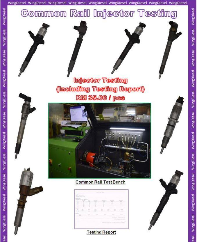 Testing Common Rail Diesel Injector Service come with testing report