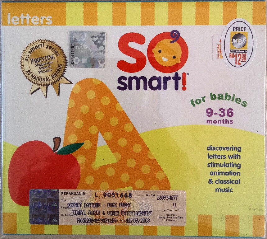 So Smart Series - Letters VCD For Baby 9-36 Months