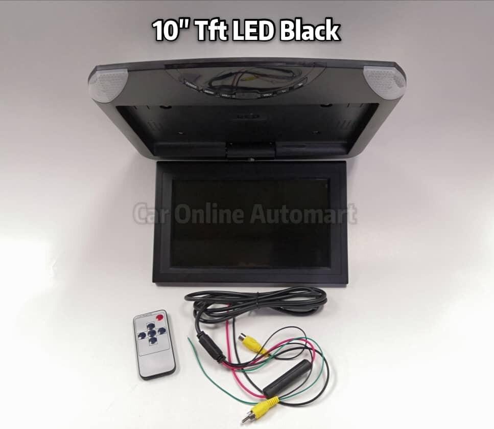 Ultra Thin 10 Inch AV Car Roof Monitor Ceiling Mount Flip Down TFT LCD Monitor Player - 180 degree turn