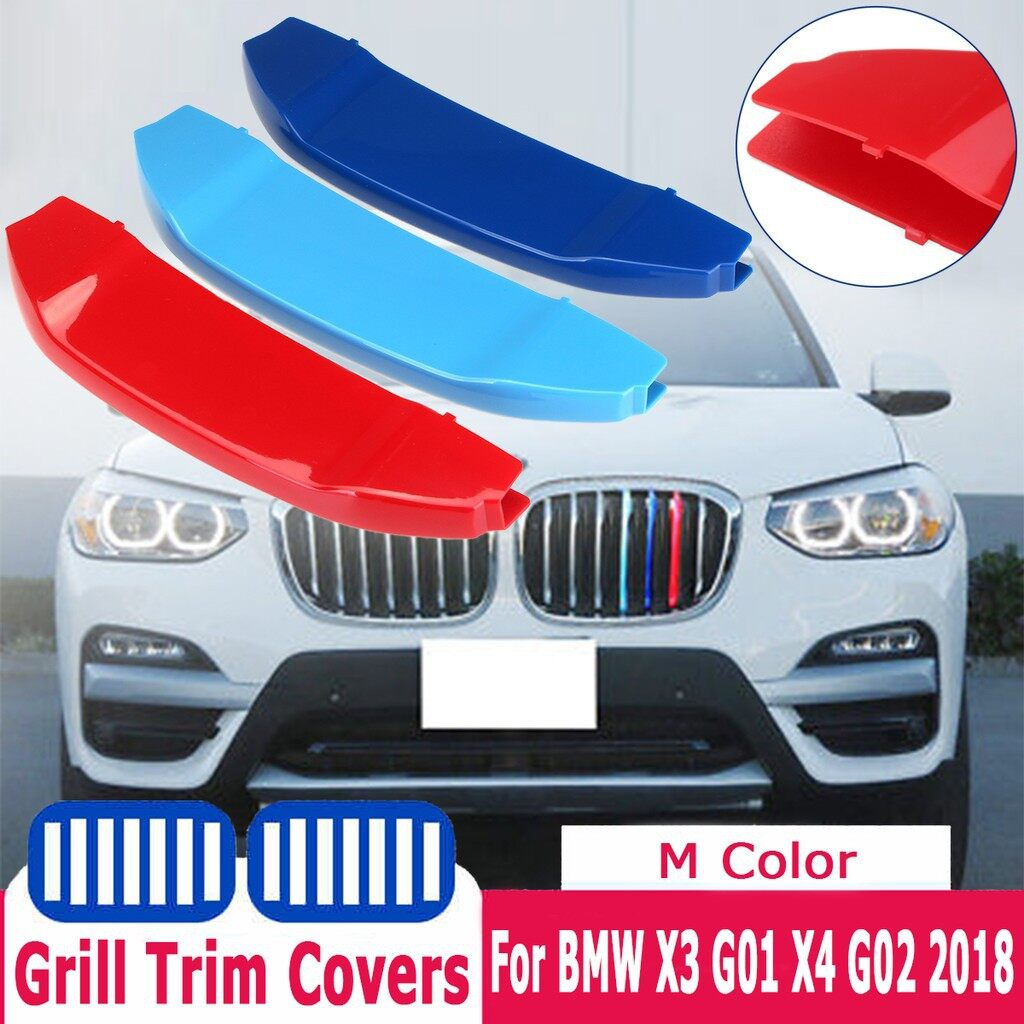 Car Lights - 3 PIECE(s) Tricolor Sport Grill Grille Strip Cover Trim For BMW X3 G01 X4 G02 - Replacement Parts