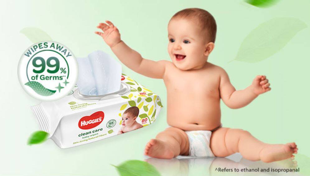 HUGGIES Clean Care Baby Wipes Tissue 80pcs