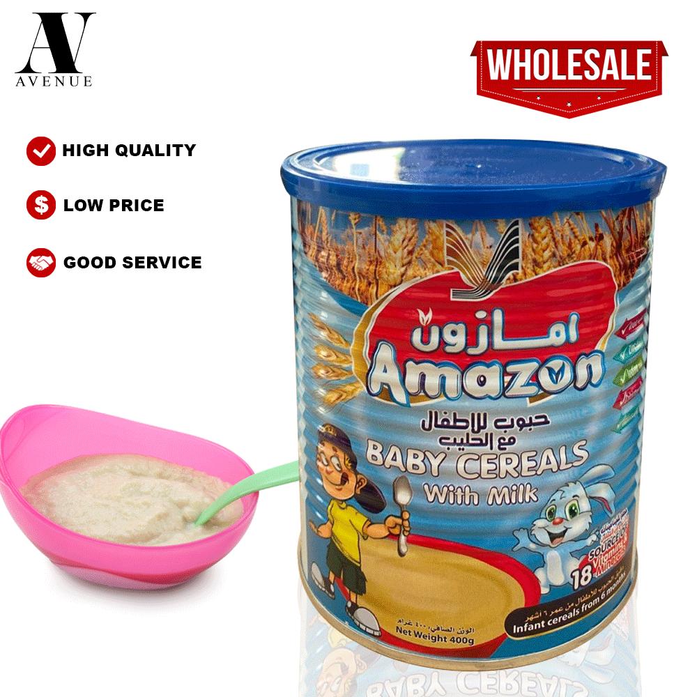 Amazon Baby Cereals with Milk 400 g حبوب للأطفال مع  الحليب