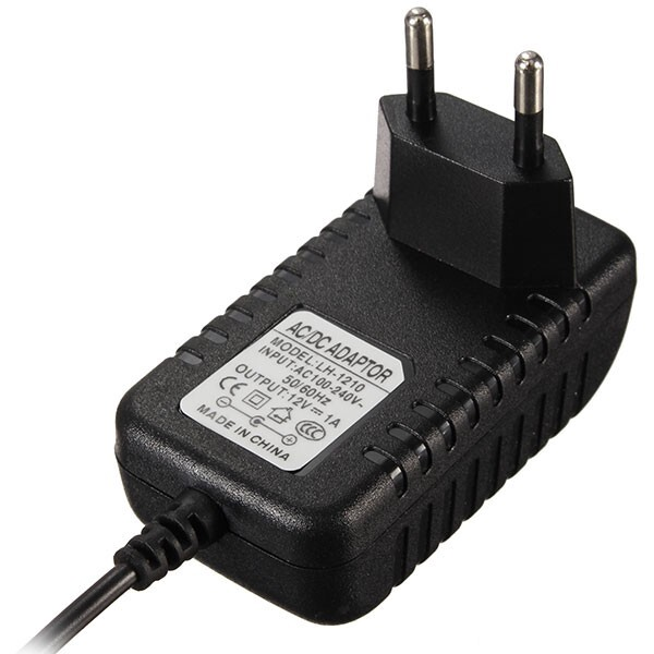 Plugs & Adapters - DC 12V 1000mA/1A Adapter Charger Power Supply for LED Strip CCTV - Home Improvement